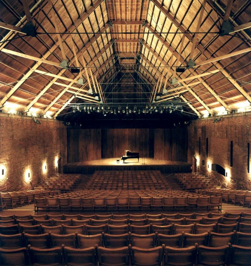 Snape Hall, Sussex, United Kingdom is a similar style hall that was built in the 1960's. It has superb acoustics and has a design that is timeless, using wood as the underlying theme.